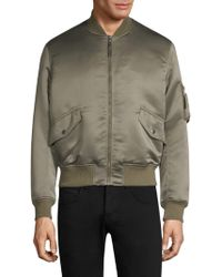 The Kooples - Satin Bomber Jacket - Lyst