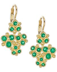 Temple St. Clair - Cluster Trio Emerald Earrings - Lyst