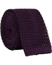 Ralph Lauren Purple Label Silk Knit Tie - Purple
