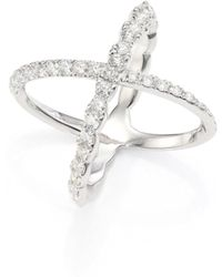 Hearts On Fire - Lorelei Diamond & 18k White Gold Crisscross Ring - Lyst