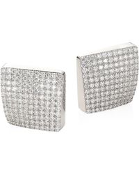 Roberto Coin - Sauvage Prive 18k White Gold & Diamond Earrings - Lyst
