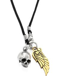 King Baby Studio - Two-tone Skull & Wing Pendant - Lyst