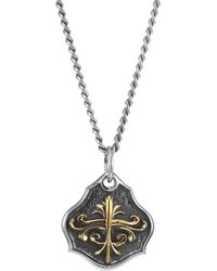 King Baby Studio - Armor Sterling Silver Shield Pendant Necklace - Lyst