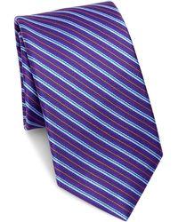 Saks Fifth Avenue - Collection Multi- Stripe Silk Tie - Lyst