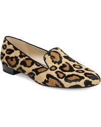 181f3acafe3f Sam Edelman - Jordy Leopard Print Calf Hair Smoking Slippers - Lyst