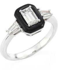 Nikos Koulis - Oui Diamond, Enamel & 18k White Gold Ring - Lyst