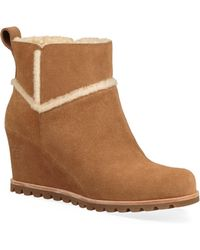 UGG - Marte Suede Wedge Boots - Lyst