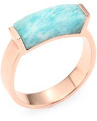 Monica Vinader - Linear Amazonite Ring - Lyst