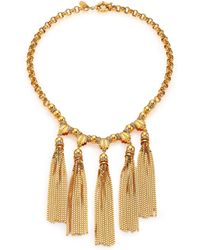 House of Lavande - Sunset Crystal Tiered Tassel Necklace - Lyst