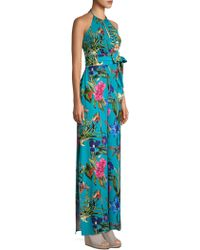 Parker - Silk Floral Halter Jumpsuit - Lyst