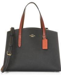 COACH - Exotic Charlie Colorblock Leather Satchel - Lyst