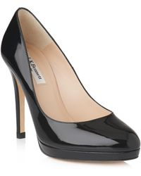 L.K.Bennett - Sledge Leather Court Shoes - Lyst
