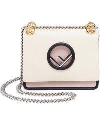 Fendi - Small Kan I Color Block Shoulder Bag - Lyst
