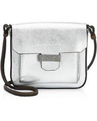 Brunello Cucinelli - Metallic Leather Crossbody Bag - Lyst