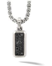 David Yurman - The Pavé Collection Streamline Enhanced Pavé Black Diamond Pendant - Lyst