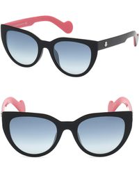 1eae2323ad Lyst - Moncler Acetate   Metal Cat-eye Sunglasses in Pink