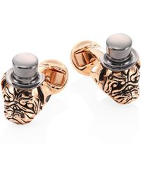 Saks Fifth Avenue - Two-tone Pug Head Cuff Links - Lyst