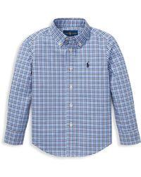 Ralph Lauren - Little Boy's Plaid Button-down Shirt - Lyst