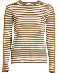 Akris Punto Tri-color Wool Knit Jumper - Natural