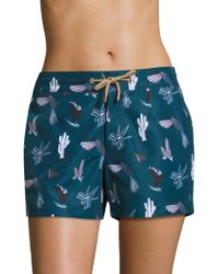 Thorsun - Athena Mexican Hawaiian Swim Shorts - Lyst