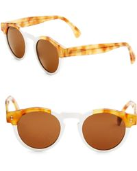 Illesteva - Leonard 48mm Round Sunglasses - Lyst