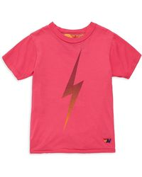 Aviator Nation - Little Girl's & Girl's Faded Bolt Cotton Crewneck Tee - Rose - Size 6 - Lyst