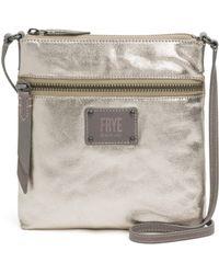 Frye - Ivy Metallic Crossbody Bag - Lyst
