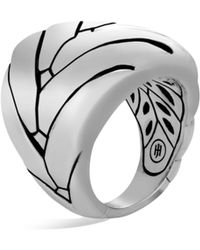 John Hardy - Modern Chain Sterling Silver Large Ring - Lyst
