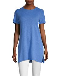 Eileen Fisher - Roundneck Hi-lo Tunic - Lyst