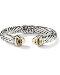 David Yurman - Cable Classics Bonded Yellow Gold & 14k Gold Bracelet - Lyst