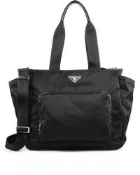 177c4cb2a284 Prada Calf Leather Top-handle Bag in Brown - Lyst