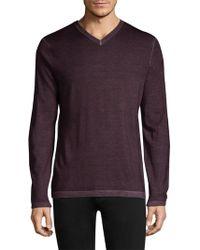 Patrick Assaraf - Regular-fit Magic Wash Wool V-neck Sweater - Lyst