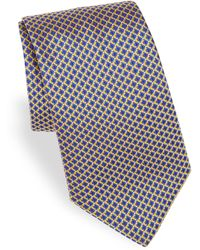 Canali - Men's Printed Silk Tie - Gold - Lyst