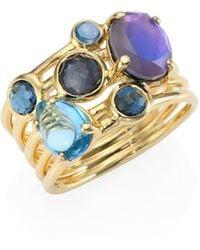 Ippolita - Rock Candy® Multi-stone & 18k Yellow Gold Ring - Lyst