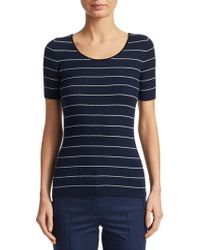 Akris Punto - Ribbed Knit Striped Pullover - Lyst