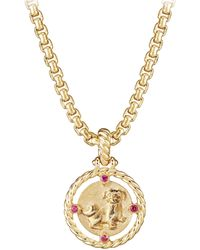David Yurman - 18k Gold & Ruby Lunar New Year Pendant - Lyst