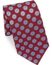 Charvet - Flake Print Silk Tie - Lyst