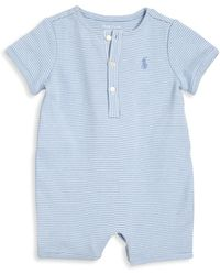 Ralph Lauren | Baby's Striped Shortall | Lyst