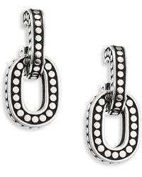 John Hardy - Dot Small Sterling Silver Hoop Earrings - Lyst