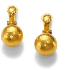 Gurhan - 24k Yellow Gold Ball Drop Earrings - Lyst