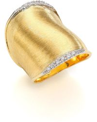 Marco Bicego - Lunaria Diamond & 18k Yellow Gold Ring - Lyst