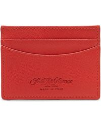Saks Fifth Avenue - Collection Leather Credit Card Case - Lyst