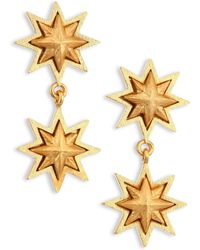 Stephanie Kantis | Double Sunburst 24k Yellow Gold Drop Earrings | Lyst