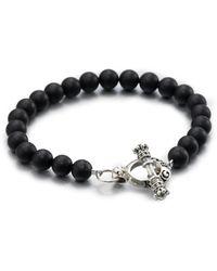 King Baby Studio - Black Onyx Beaded Bracelet - Lyst