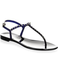 L.K.Bennett - Studded Jelly Thong Sandals - Lyst