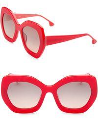 Alice + Olivia - Dinah Poppy Sunglasses - Lyst