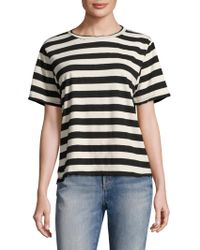 AMO - Striped Tomboy Shirt - Lyst