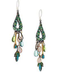 Erickson Beamon - Emerald City Crystal Drop Earrings - Lyst