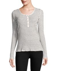 Rag & Bone - Lilies Henley Cotton Top - Lyst