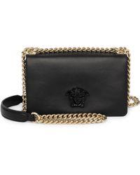 9ed8d1dffe6b Versace - Women s Palazzo Chain Crossbody Bag - Black - Lyst